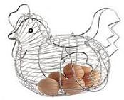 Kitchen Craft Chrome Wire Large Chicken Basket 3 - 30cm x 25cm